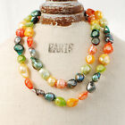 """Baroque 10mm Freshwater Pearl Necklace 25""""-60""""endless PALETTE TJ98 NUTRITION"""