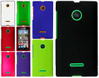 For Nokia Lumia 435 Rubberized HARD Case Snap On Phone Cover +Screen Protector