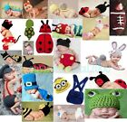 Newborn Baby Girl / Boy Crochet Knit Costume Photography Prop Hats Outfits