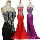 Long Mermaid Evening Formal Party Formal Celebrity Bridesmaid Prom Gown Dress UK