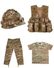 Kids Army Soldier Outfit Uniform BTP Camo Fancy Dress Alt to Multicam Set 2