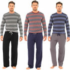 Mens Striped Pyjamas Nightwear Long Sleeve Top & Pants Trousers Warm HT339