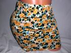 NWT! Womens Nollie Mini Skirt Floral Stretch Bodycon Yellow Turquoise Choose Sz