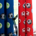 "Fully Lined Eyelet or Pencil Pleat  66"" x 72"" Football Curtains In Red Or Blue"