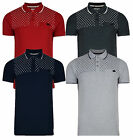 Crosshatch Cotton Polo Shirt Jersey Top T-shirt New Retro Red Navy Grey DD12