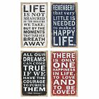 Small Hessian Plaques With Inspirational Slogans Brand New Lovely Gift