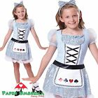 Girls Alice in Wonderland Book Week Fancy Dress Costume Kids Dance outfit 2 - 9
