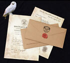 Harry Potter School PERSONALISED / Standard Acceptance Letter Ticket Hogwarts