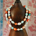 """Baroque 10mm Freshwater Pearl Necklace 25""""-60"""" endless PALETTE TW34 feather"""