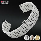 Smooth stainless steel double fold buckle watch band for  Arman- 20mm 22mm