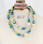 """Baroque 10mm Freshwater Pearl Necklace 25""""-60"""" endless PALETTE TH13 spring green"""