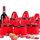 5/10 Santa Pant Xmas Treat Bags Candy Gift Handbag Holiday Decoration Christmas