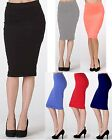 NEW WHIMSY PENCIL SKIRT Stretch Tight Knee Length Fitted BODY CON Office S/M/L