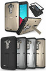 NEW RUGGED ARMOR TANK STAND CASE BUILT-IN SCREEN PROTECTOR COVER FOR LG G4 PHONE