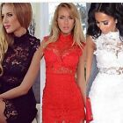 Sexy Women Lace Stretchy Bodycon Party Cocktail Pub Clubwear Summer Mini Dresses