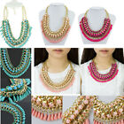 Vintage Summer New Fashion National Bohemia Style Woven Women Necklace Jewelry