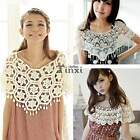 Latest Casual  Korea Mesh Crochet Lace Knit Smock Small Shawl Hollow Out Beach