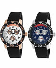 I by Invicta Men's Multi-Function Stainless Steel & Rubber Watch