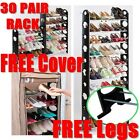 30 40 or 50 Pairs With Legs 10 Levels Tiers Stackable Storage Shoe Rack Holder