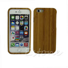 Pop Real Natural Bamboo Wooden Hard Case Cover Back Skin Fr iPhone 5 5S 6 6 Plus
