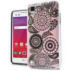 LG Tribute HD Brushed Design HYBRID Rubber Case Cover Accessory + Screen Guard