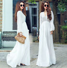 HOT Casual Ladies Long Button Party Cocktail Maxi Dress Kaftan Abaya shirt dress
