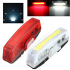 LED USB Rechargeable Headlight Cycling Bike Bicycle Front Rear Tail Light 6 mode