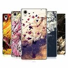 HEAD CASE DESIGNS FLORAL DRIPS HARD BACK CASE FOR SONY XPERIA M4 AQUA