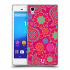 HEAD CASE PSYCHEDELIC PAISLEY SOFT GEL CASE FOR SONY XPERIA M4 AQUA