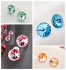 925 Sterling Silver Inclusion Free Clarity Swarovski Color Crystal Stud Earrings