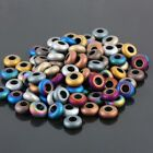 Mix Color Hematite Gemstone Round Ball Spacer Loose Bead Large Hole Fit Bracelet