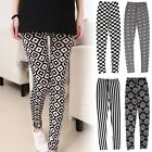 Sexy Womens Checker Floral Print Bodycon Stretchy Leggings Tight Pants Jeggings