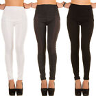 LUXUS NEU DESIGNER wd5c HIGH WAIST TREGGINGS SKINNY DAMENHOSE 0€