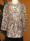 KATE HILL  NWT $120 women's shirt blouse top camel brown beige black linen