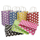 10pcs Luxury Polka Dot Paper Party Carrier Gift Bags Kraft with Twisted Handles