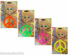 Adults Unisex Peace Sign Hippie Necklace Colours Necklace Fancy Dress Accessory