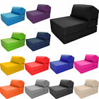 Deluxe Single Chair Bed Z Guest Fold Out Futon Sofa Chairbed Mattress foam Gilda