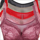Hot Sexy Women Underwire Lace Bra Push Up Brassiere  34 38 40 42 44 Cup Size B C