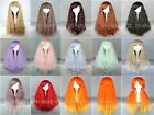 Fashion 70cm Long 15 Color  Wave Curly Rhapsody Harajuku Cosplay long Wig