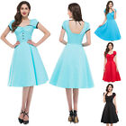 Fashion Retro 50s Dress Rockabilly GOTHIC Vintage Swing Party Evening Tea Dress
