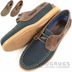 Mens Leather Casual / Formal / Holiday Slip On Boat / Deck Loafer Lace Up Shoes