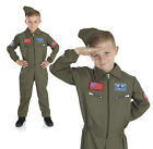 Boys Air Force Cadet Costume Aviator Fancy Dress Military Fighter Pilot Outfit