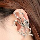 Retro Punk Style Ear Clip-On Earrings octopus ear cuff turquoise gift statement