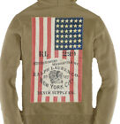 Polo Ralph Lauren Denim & Supply Mens USA Flag Slim Zip Hoodie Cardigan Sweater