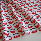 Christmas Fabric Polycotton Reindeer Holly Snowflake Trees Green Red Craft Metre <br/> Buy 1 Get 1 5% OFF - Discount Delivery ONLY &pound;2.45 metre