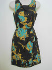 BANANA REPUBLIC Women's Purple Floral Print Ruffled Dress Size 2,8 NWT