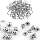 100x Steel Ball Cone 16g Bars Nose Lip Labret Nipple Tongue Charm Rings Piercing