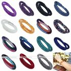 1x Crystal Magnetic Clasp Mesh Wrap Necklace Cuff Women Bangle Bracelet