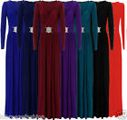 LONG SLEEVE BRIDESMAID MAXI GOWN DRESS FORMAL EVENING PARTY