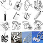Various Fashion Mens Stainless Steel Pendant Necklace Chain Punk Gothic Jewelry